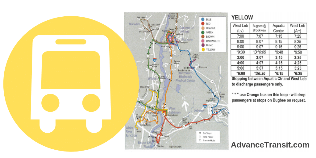 Advance Transit Yellow Line route map