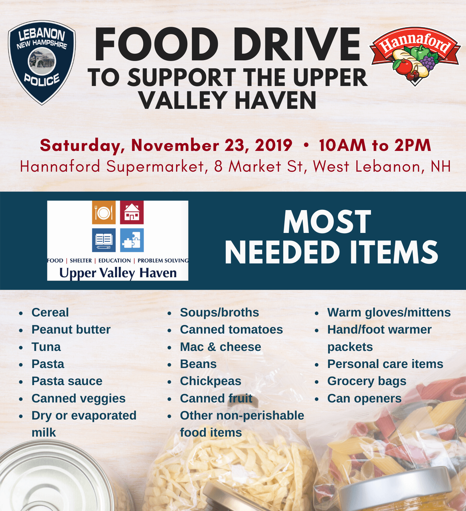 Food Drive 111819 Poster