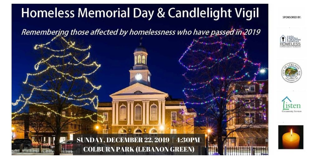 Homeless Vigil December 22, 2019 at 4:30pm Colburn Park