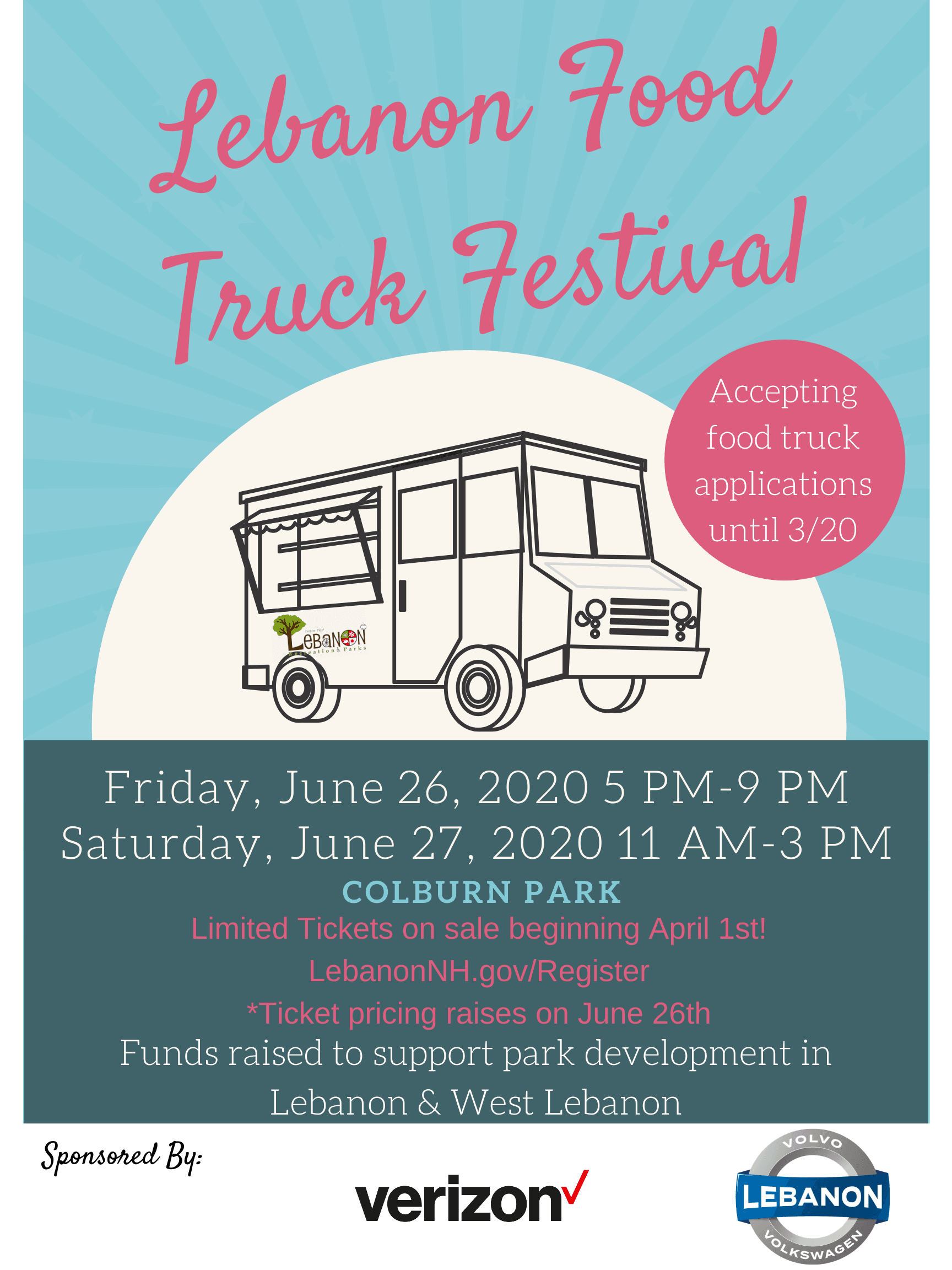Lebanon Food Truck Festival Flyer