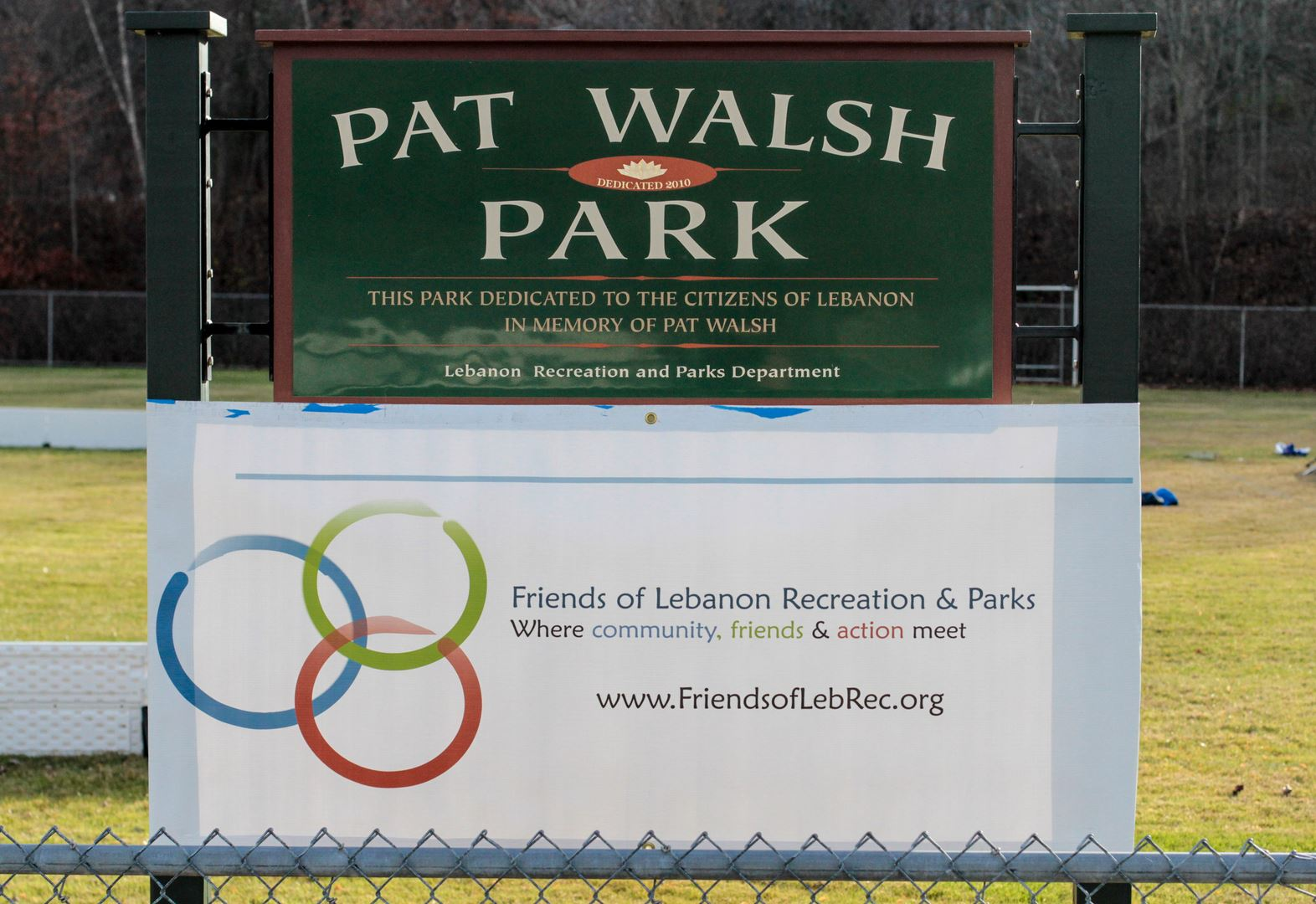 Pat Walsh Park Sign