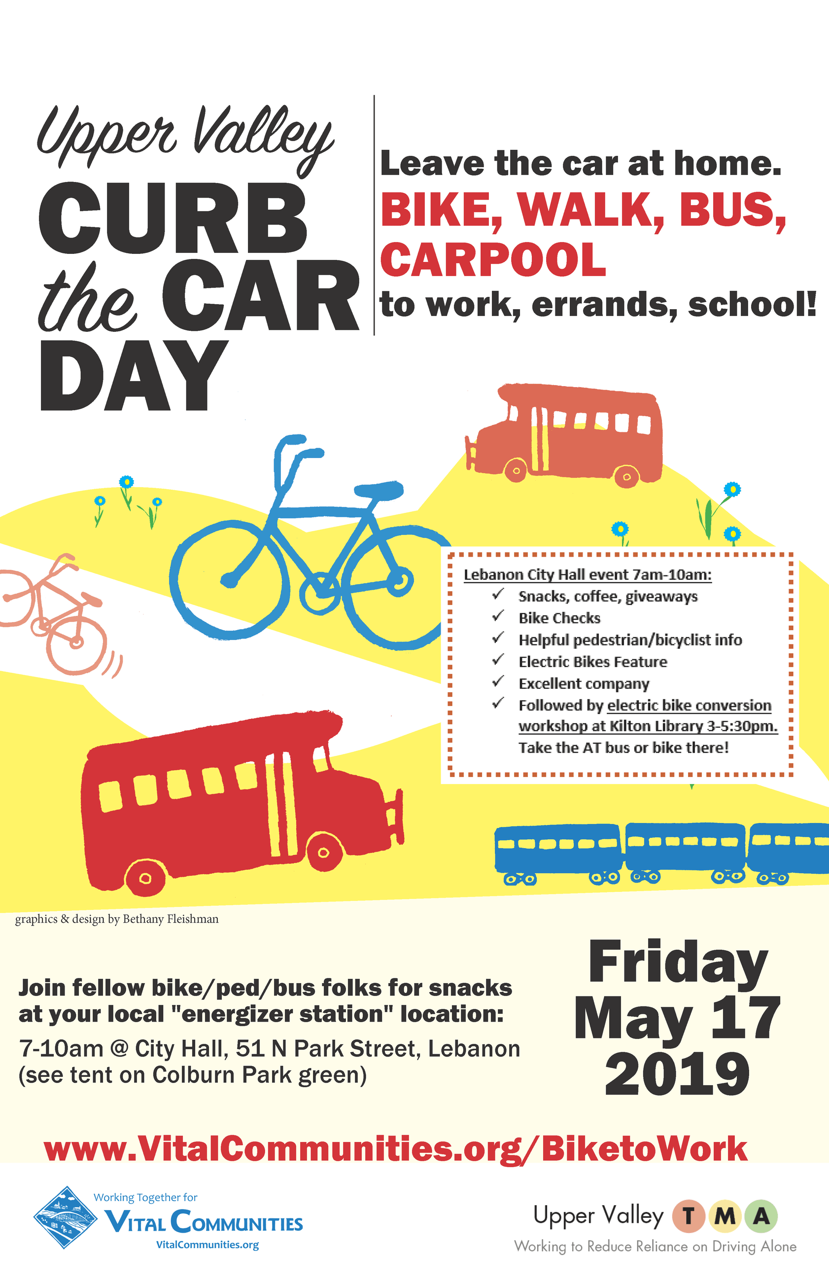 Curb The Car Day promotional flyer