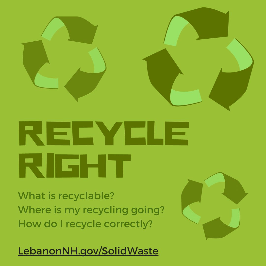 Recycle Right logo with recycling symbols