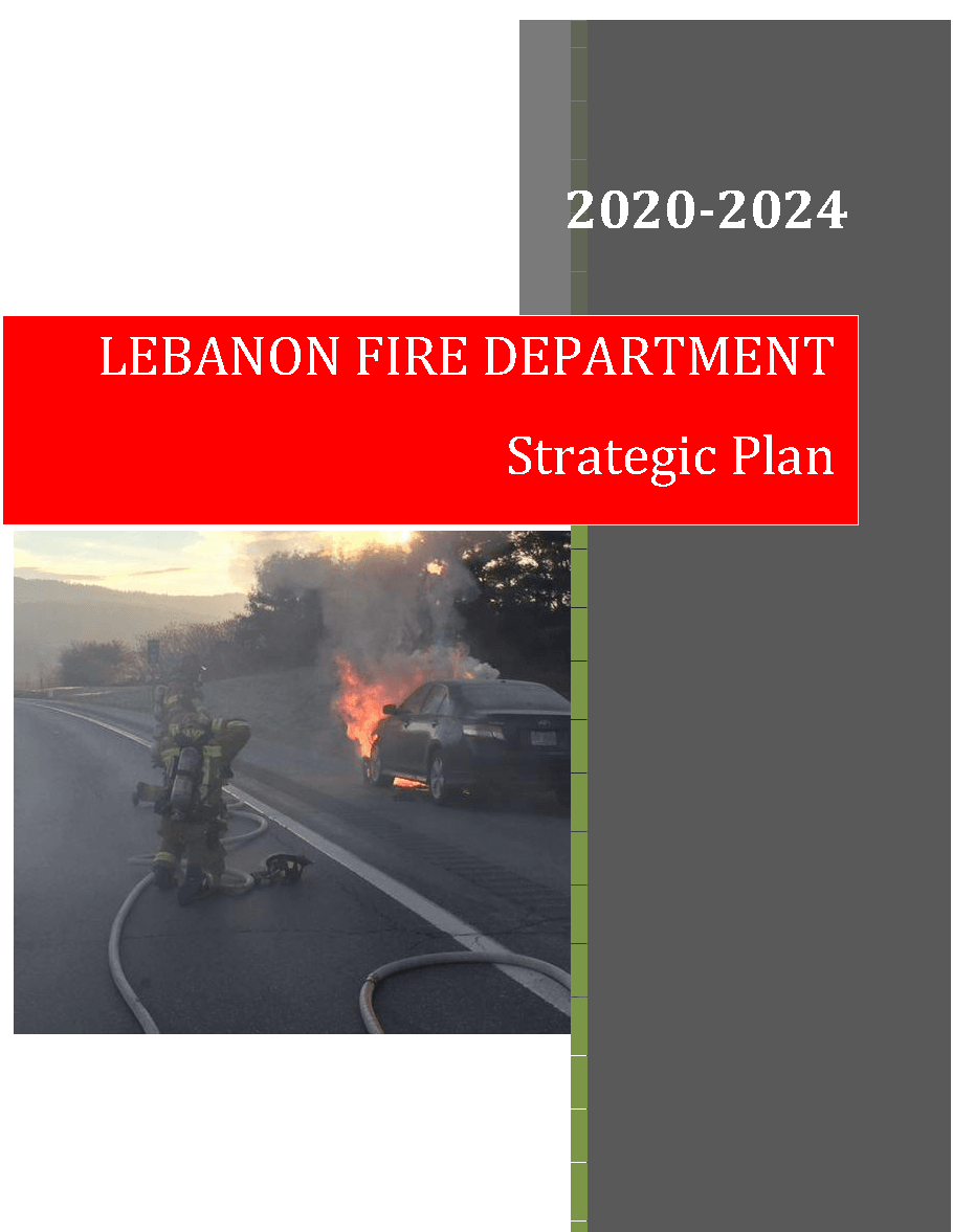 Fire Department Strategic Plan Cover