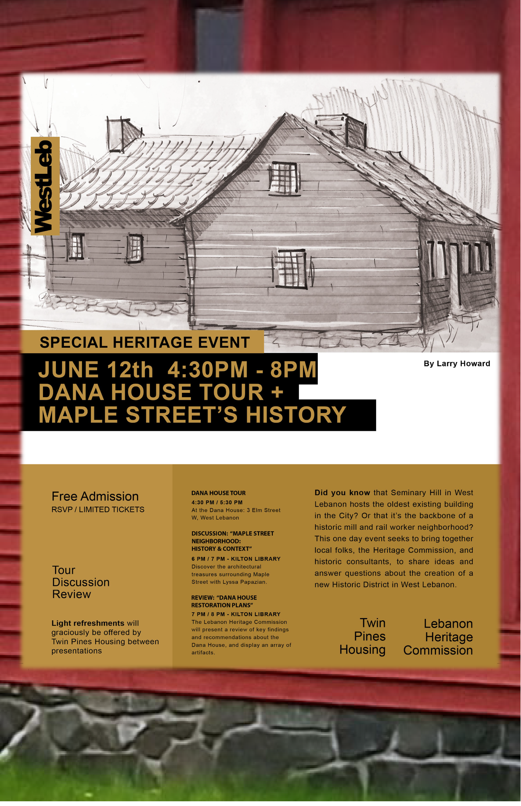 Dana House Tour Flyer